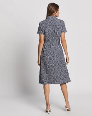 David Lawrence Valerie Printed Shirt Dress - Dresses (MIDNIGHT/I)