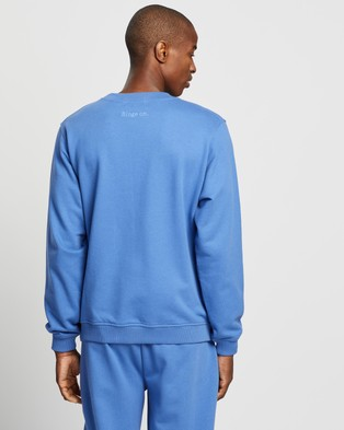 BINGE X THE ICONIC Chill, Chill, Chill Sweat Top - Sweats (Washed Blue)