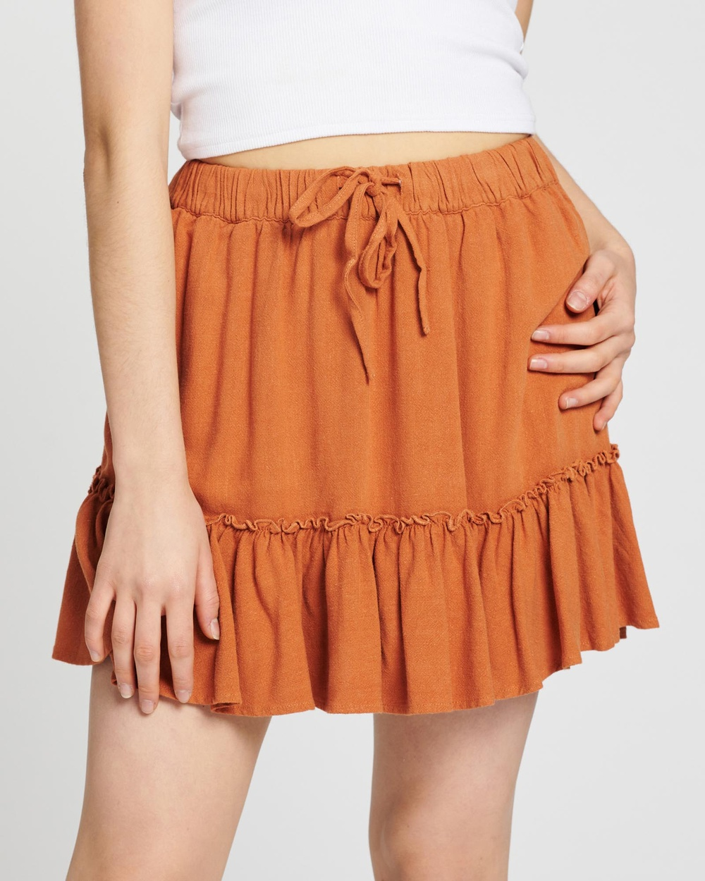 All About Eve Savanna Washed Skirt Skirts Tan