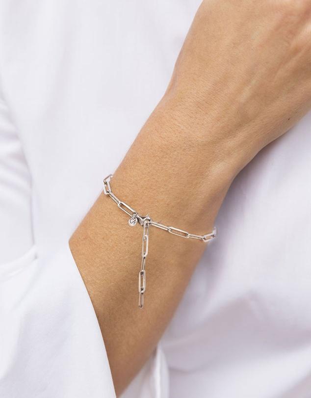 Women Link Chain Bracelet Silver