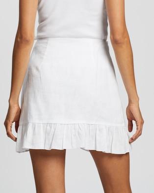 AERE Frill Wrap Mini Skirt - Skirts (White)