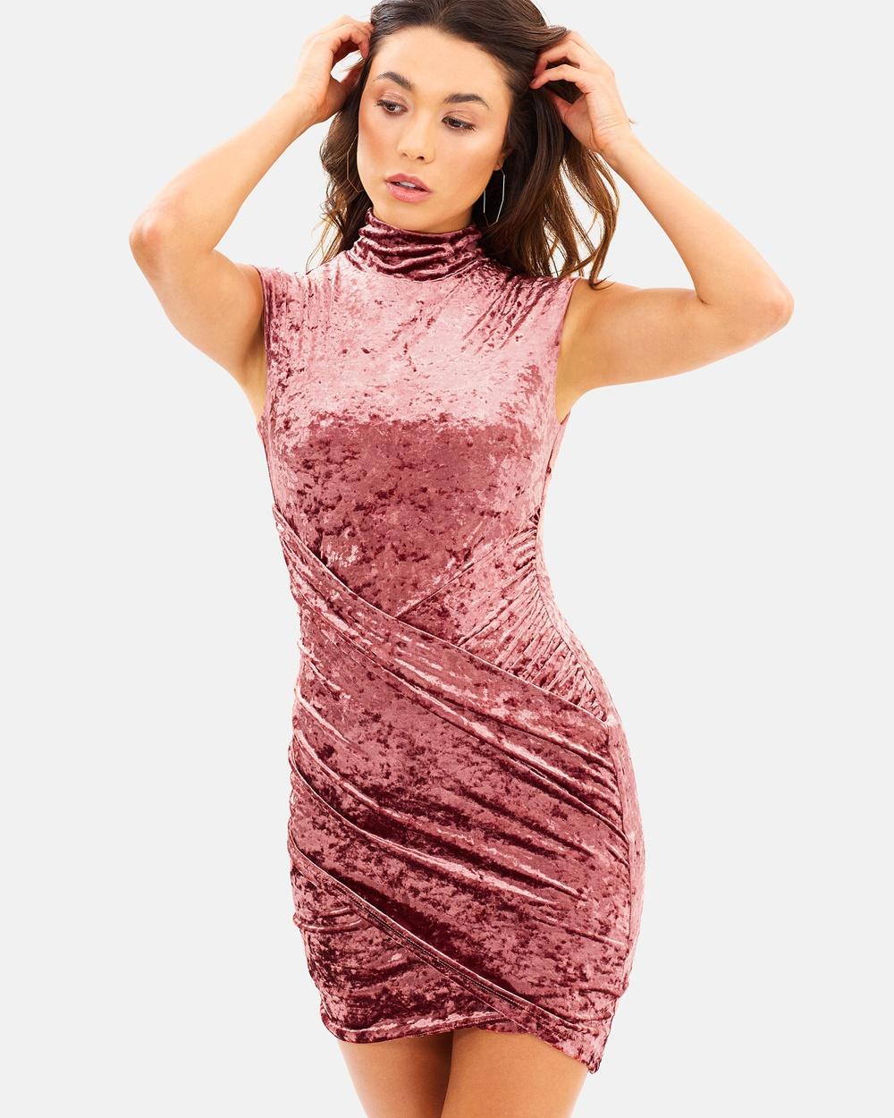 Fresh Soul Crush Mini Dress Bodycon Dresses Copper Crush Mini Dress