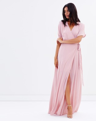 Atmos & Here – Admire Wrap Maxi Dress – Bridesmaid Dresses (Rose Pink)