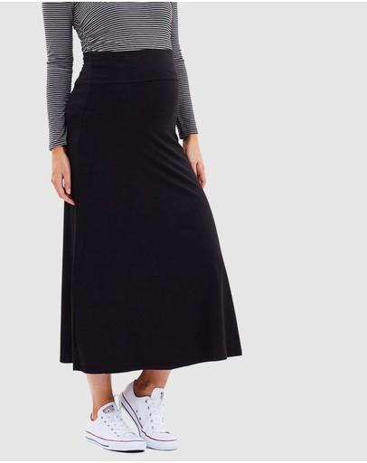 Bamboo Body Lana Long Skirt Black
