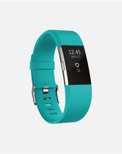 Fitbit - Fitbit Charge 2 Teal Silver