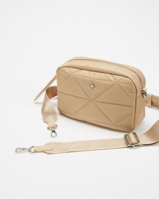 PETA AND JAIN Pronto Crossbody Bag - Handbags (Beige Nylon)