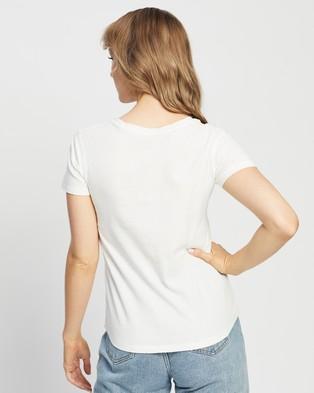 Abercrombie & Fitch Short Sleeve Moose Logo Tee - T-Shirts & Singlets (Jet Stream)