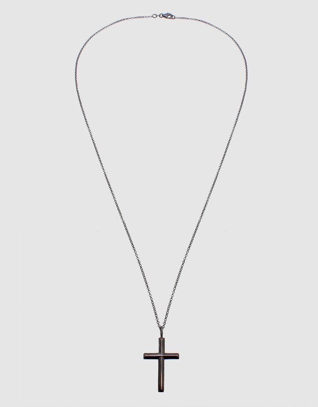 Kuzzoi - Necklace Kuzzoi Cross Pendant Oxidized Massive 925 Sterling Silver
