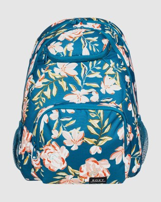 Roxy Shadow Swell 24L Medium Backpack - Backpacks (INK BLUE HAPPY DAY R)
