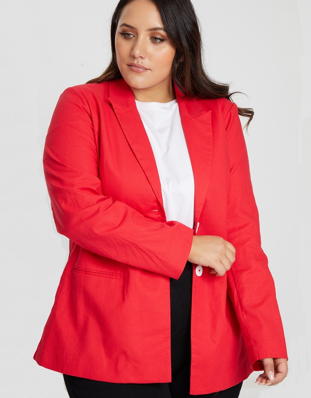 The Fated Curve - Revolution Linen Blend Blazer