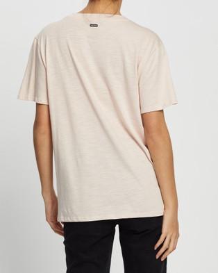 Volcom Solid Boyfriend Short Sleeve Tee - T-Shirts & Singlets (Blue)