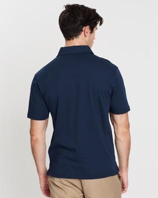 Gieves and Hawkes Short Sleeved Polo Shirt - Shirts & Polos (Navy)