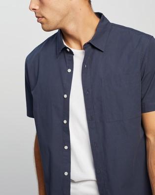 AERE Organic Poplin SS Resort Shirt - Casual shirts (Navy)