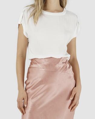 Amelius Aleeta Top - T-Shirts & Singlets (White)