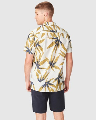 French Connection Banana Leaf Regular Fit Shirt - Casual shirts (WHITE)