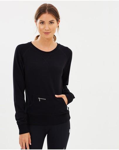 Pilot Athletic Harriet Crew Neck Sweater Black