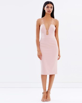 Talulah – Smooth Tidings Body Con Dress – Bodycon Dresses (Pink)