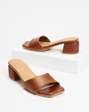 JAMES   SMITH Cremona Midi - Mid-low heels (Brown Vintage Leather)