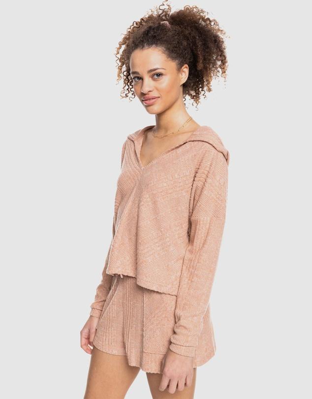 Women Womens High Tide Cosy Knit Hooded Top