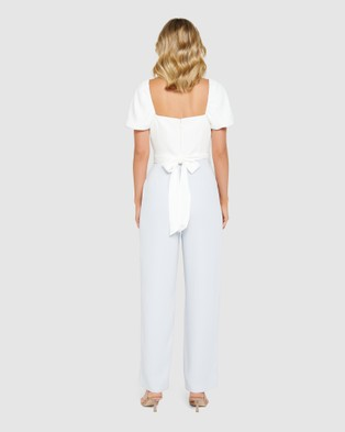 Forever New Marg Square Neck Jumpsuit - Bridesmaid Dresses (Ivory  &  Powdered Sky)