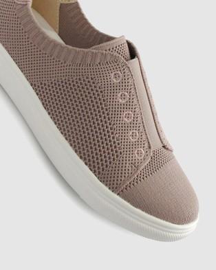 Zeroe Shuri Fly Knit Casual Shoes - Casual Shoes (Blush)