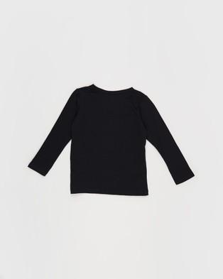 Bonds Kids - Long Sleeve Crew Tee T-Shirts & Singlets (Nu Black)