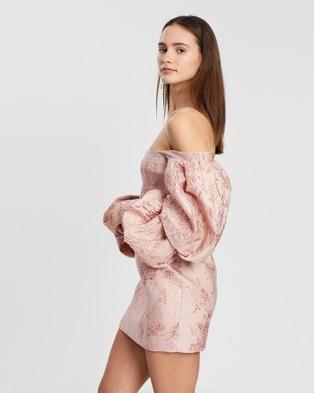 Asilio Off Shoulder With Volume Long Sleeve Dress - Dresses (Pink)