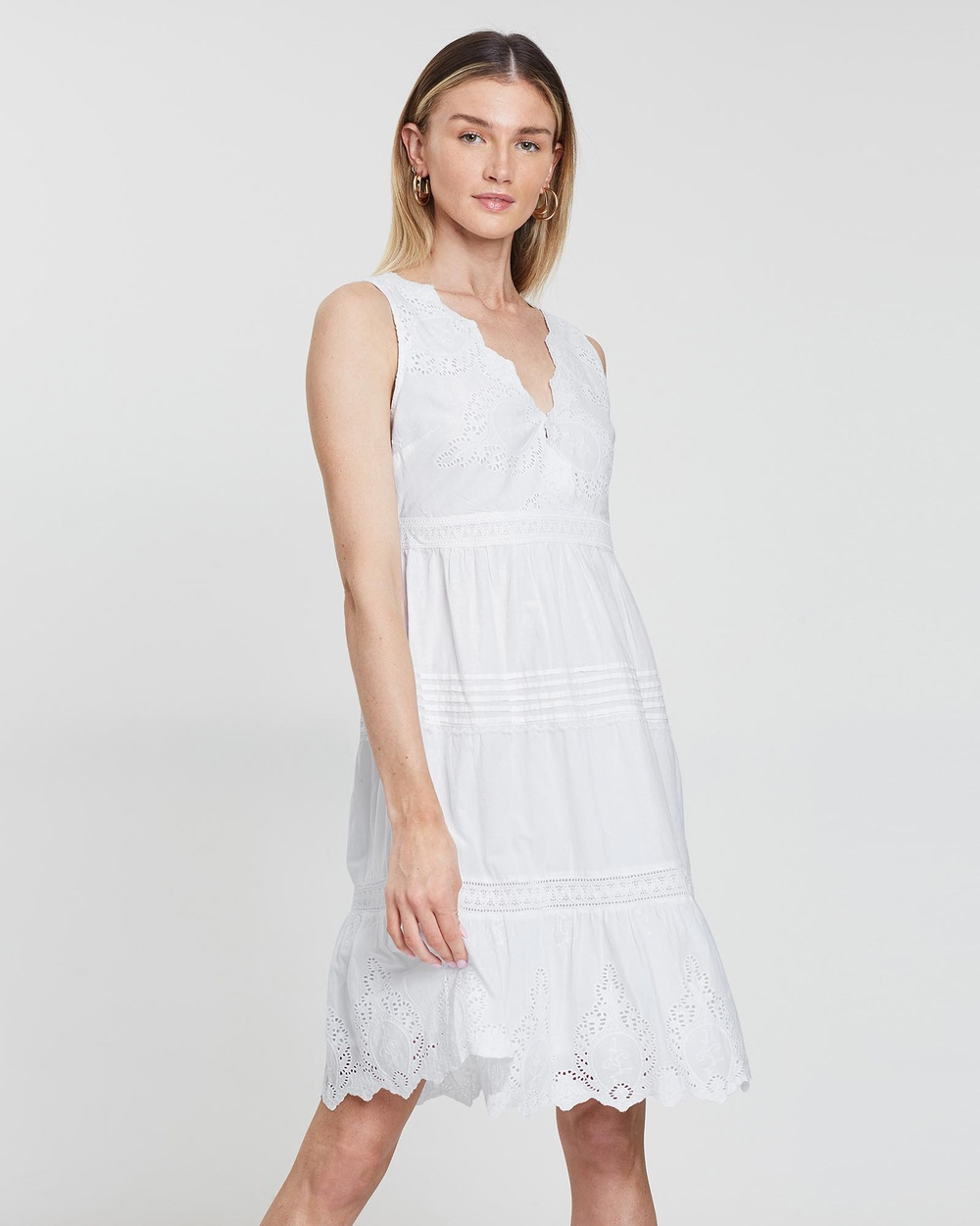 Kaja Clothing White Grace Dress