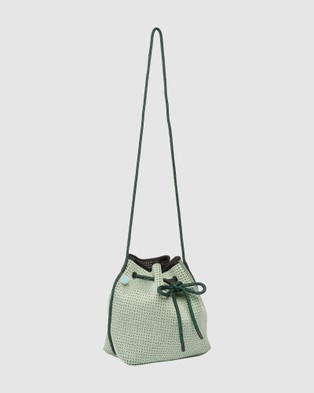 Chuchka Gabi Neoprene Bucket Bag - Bags (Green)