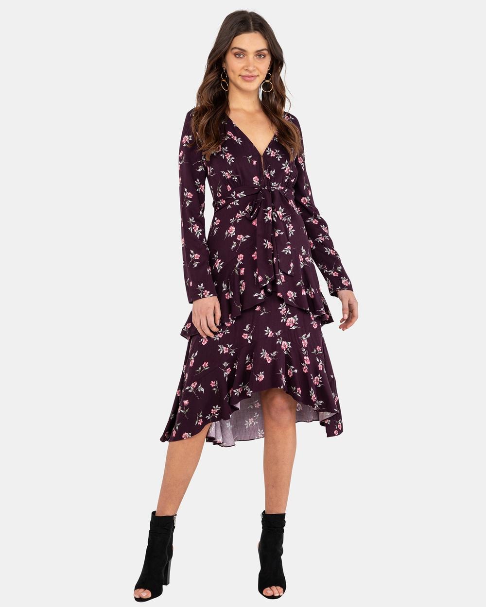 Rodeo Show Posie Midi Dress Dresses Purple Posie Midi Dress