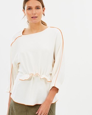 CAMILLA AND MARC – Ettore Long Sleeve Top Ivory