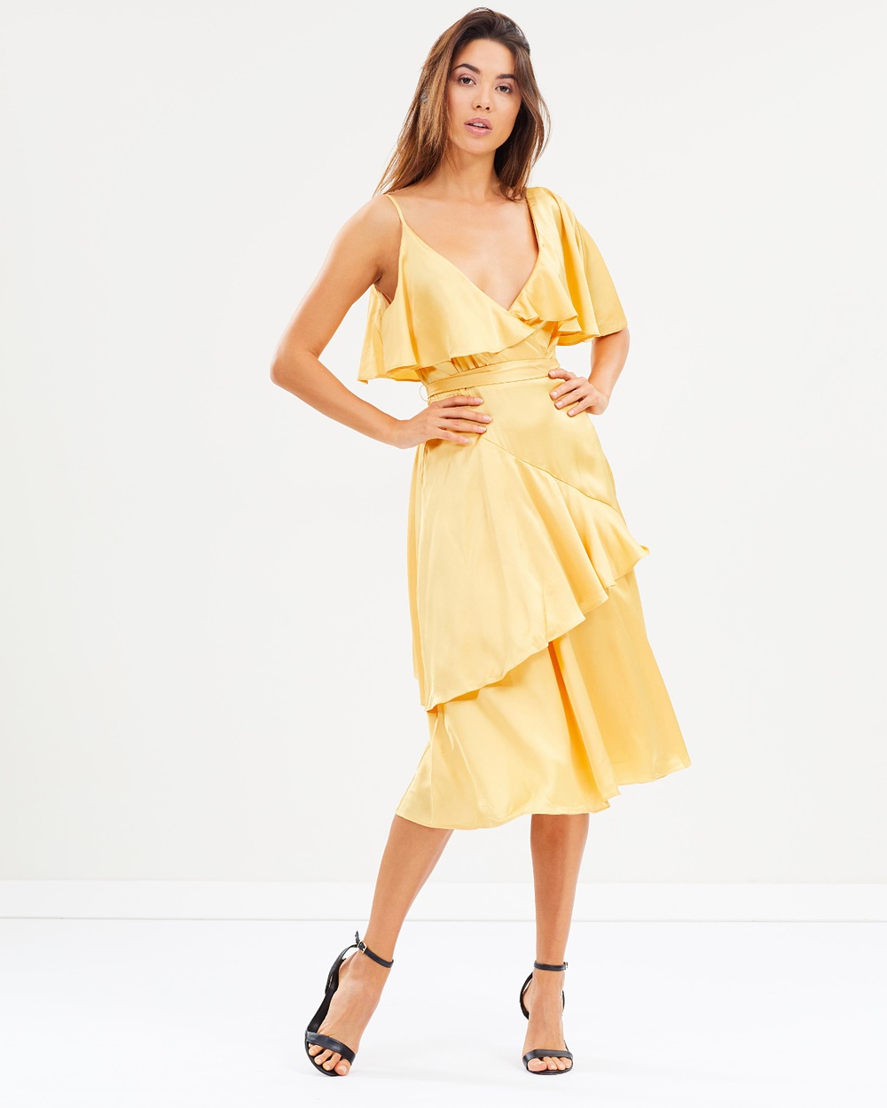 Lost Ink Deconstructed Tea Dress Bridesmaid Dresses Yellow Deconstructed Tea Dress