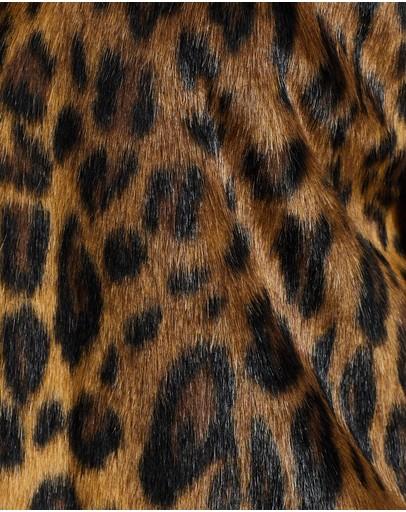 Unreal Fur Long Weekend Coat Classic Leopard