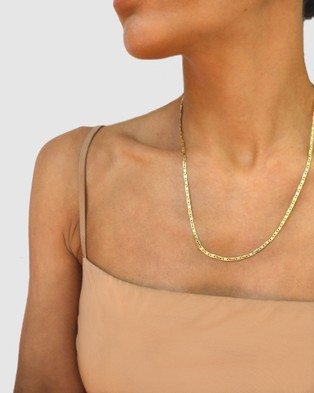 CA Jewellery Anchor Chain Necklace   Rose Gold - Jewellery (Rose Gold)