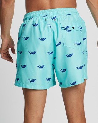 Buba & La Fish Swim Shorts - Swimwear (Aqua Blue)