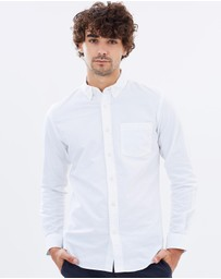 KnowledgeCotton Apparel - Button Down Oxford Shirt