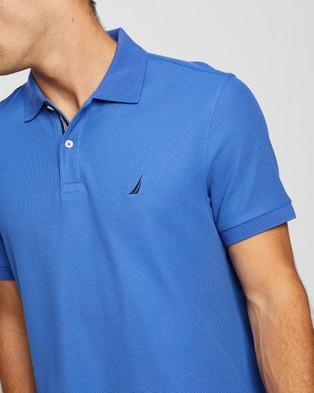 NAUTICA Classic Fit Solid Mesh Polo Shirt - Shirts & Polos (Cobalt Wave)