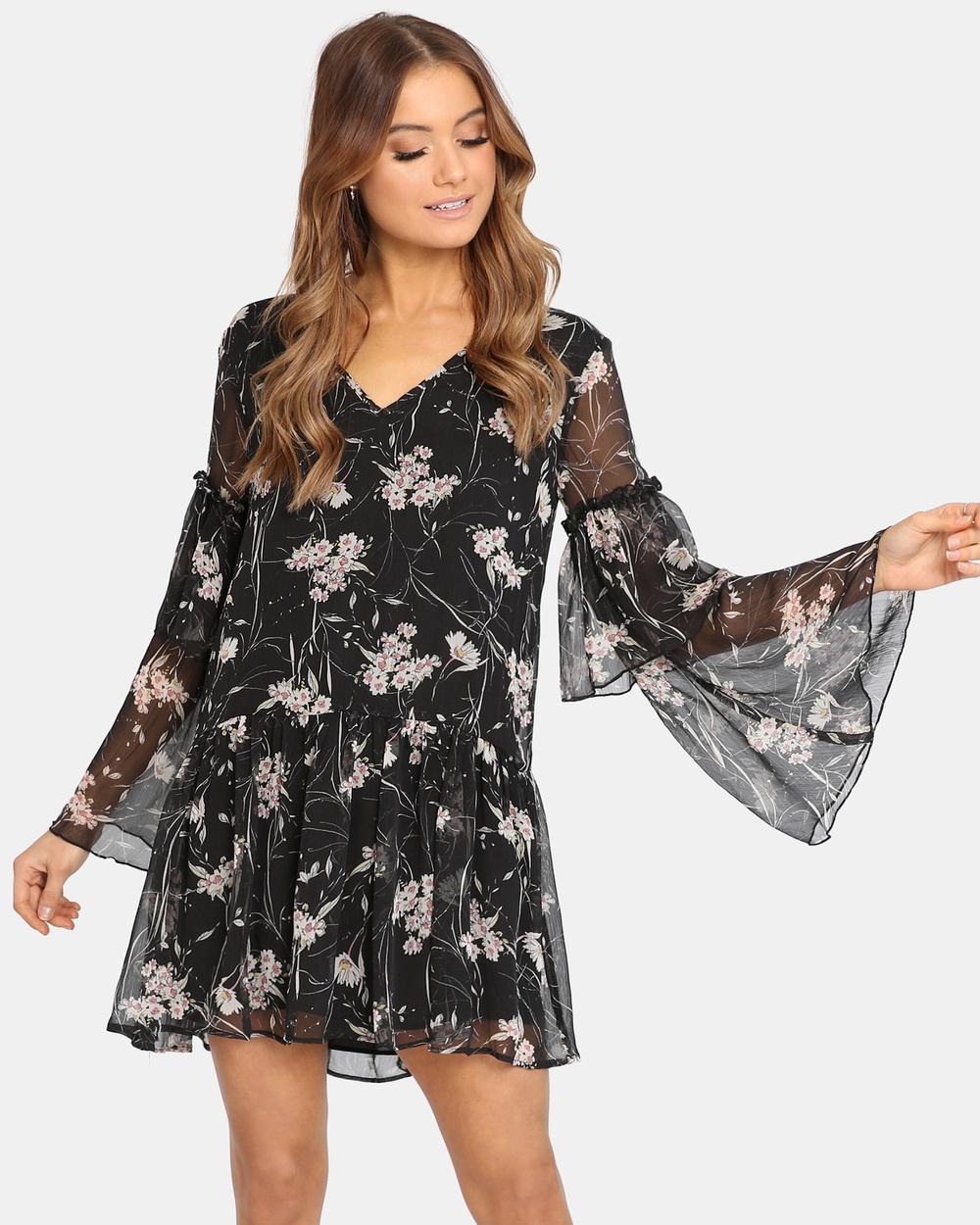 Madison Square Eden Dress Printed Dresses Black Eden Dress