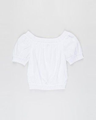 Free by Cotton On - Sasha Broderie Top   Teens - Tops (White) Sasha Broderie Top - Teens