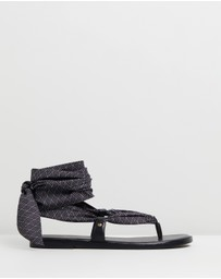 Camilla - Fabric Tie Sandals
