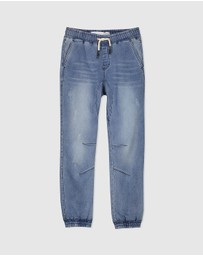 Free by Cotton On - Harper Denim Slouch Pants - Teens