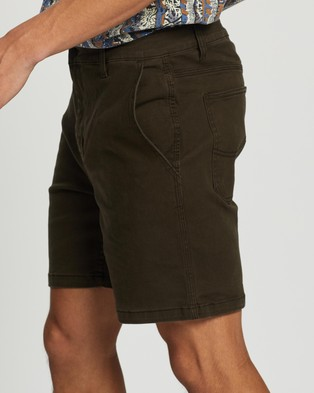 Lee Union Drill Shorts - Chino Shorts (Forest Green)
