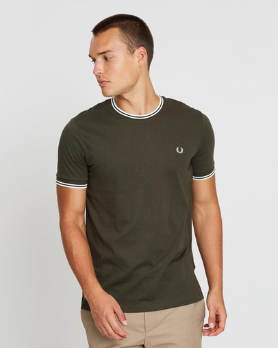 c38547db Raf Simons Pocket Detail T-Shirt by Fred Perry Online | THE ICONIC |  Australia