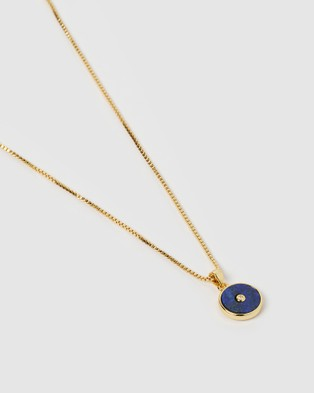 Arms Of Eve Bohdi Gold and Lapis Lazuli Necklace - Jewellery (Gold)