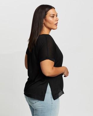 Atmos&Here Curvy Ariel Twist Neck T Shirt - T-Shirts & Singlets (Black)