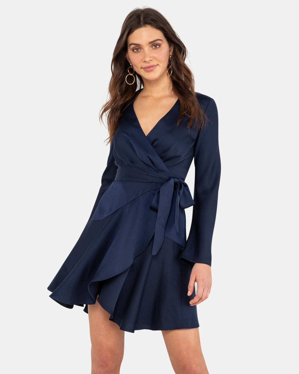 Rodeo Show Navy Mikaela Wrap Dress