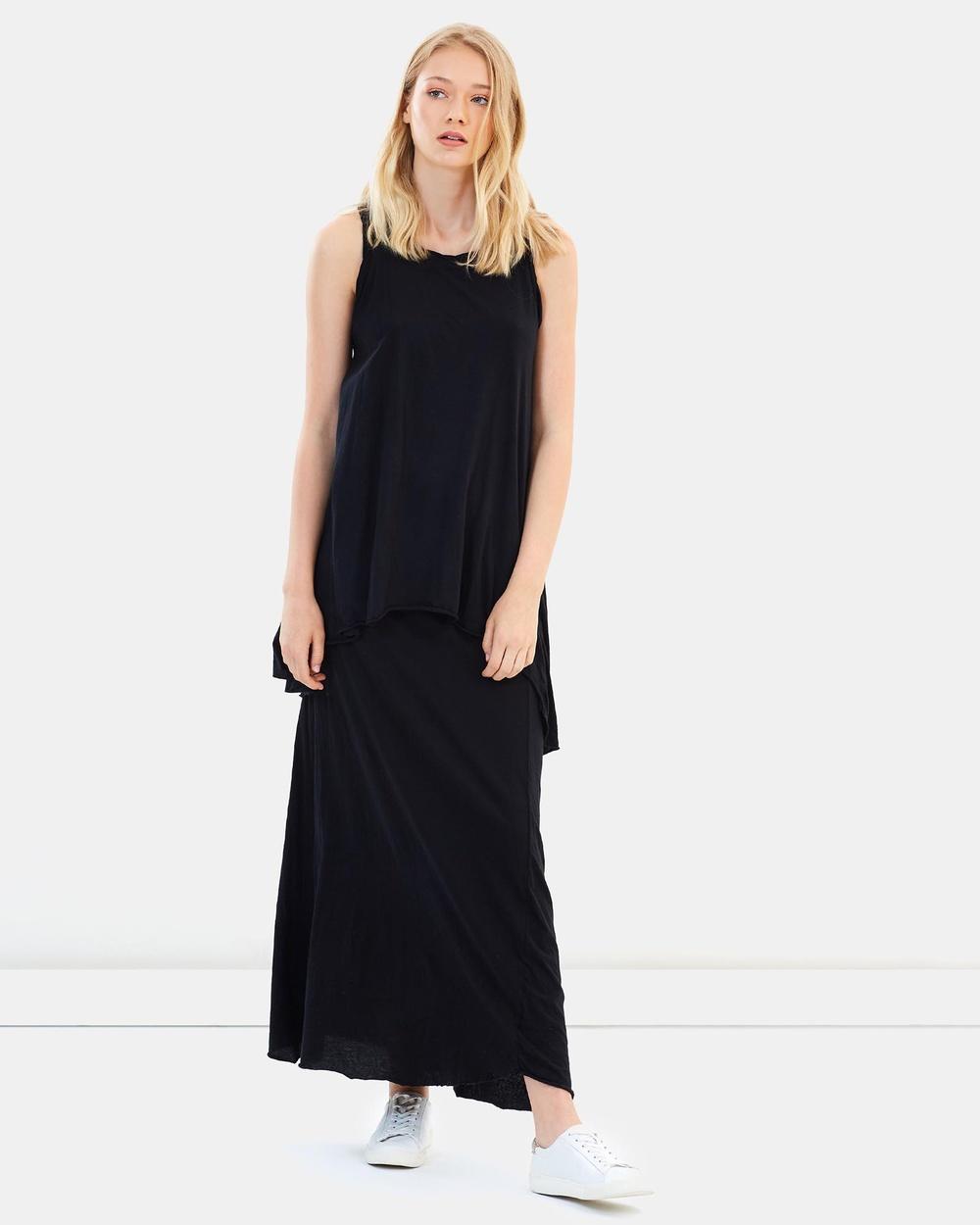 Primness Whisper Long Dress Dresses Black Whisper Long Dress
