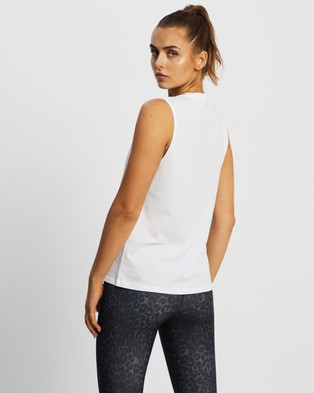 Nimble Activewear Classic Muscle Tank - Muscle Tops (White)