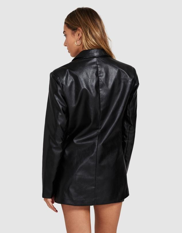 Women Elodie Leather Look Blazer