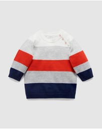Purebaby - Classic Striped Jumper - Kids
